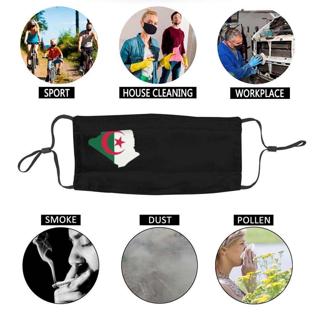Masque lavable drapeau algérien Créer Son T Shirt