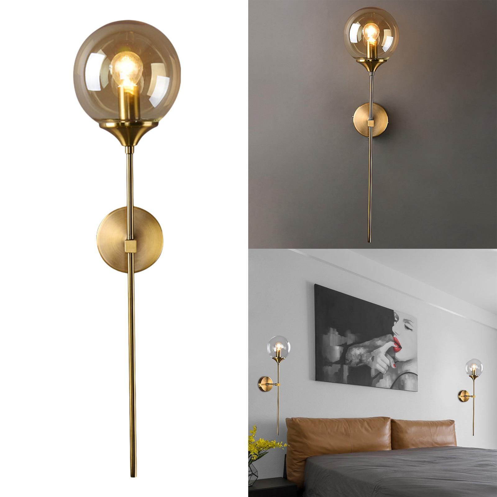 Industrial Gold Wall Sconce Lighting Modern Indoor Bedroom Wall Lights Indoor Wall Lanterns for Living Room Hallway Wall Light