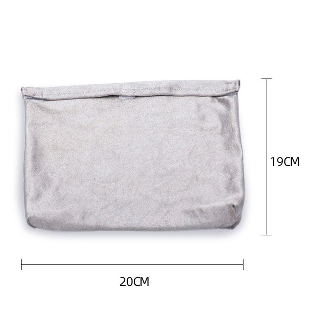 fio capa emf blindagem acessórios lavável fibra prata