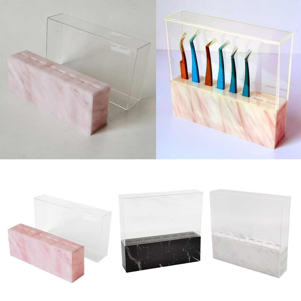 Acrylic Tweezer Display Stand Beauty Grafting Eyelash Tool Storage Holder Shelf