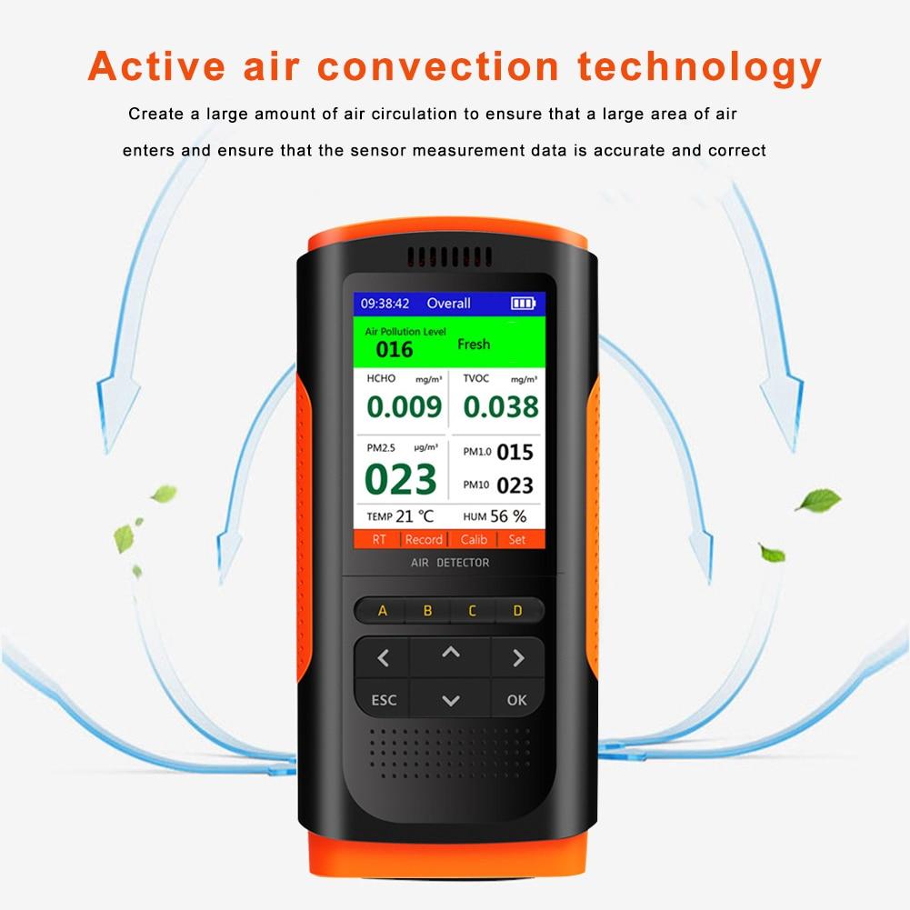 ar umidade temperatura hcho tvoc analisador início