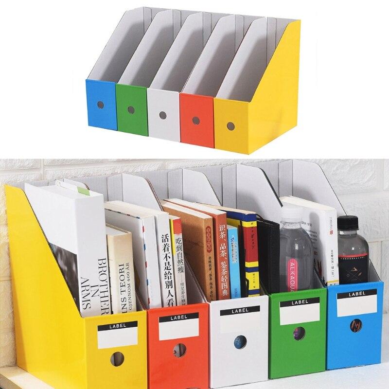 2021 New 5pcs Paper Cardboard File, Colored Desk Accessories