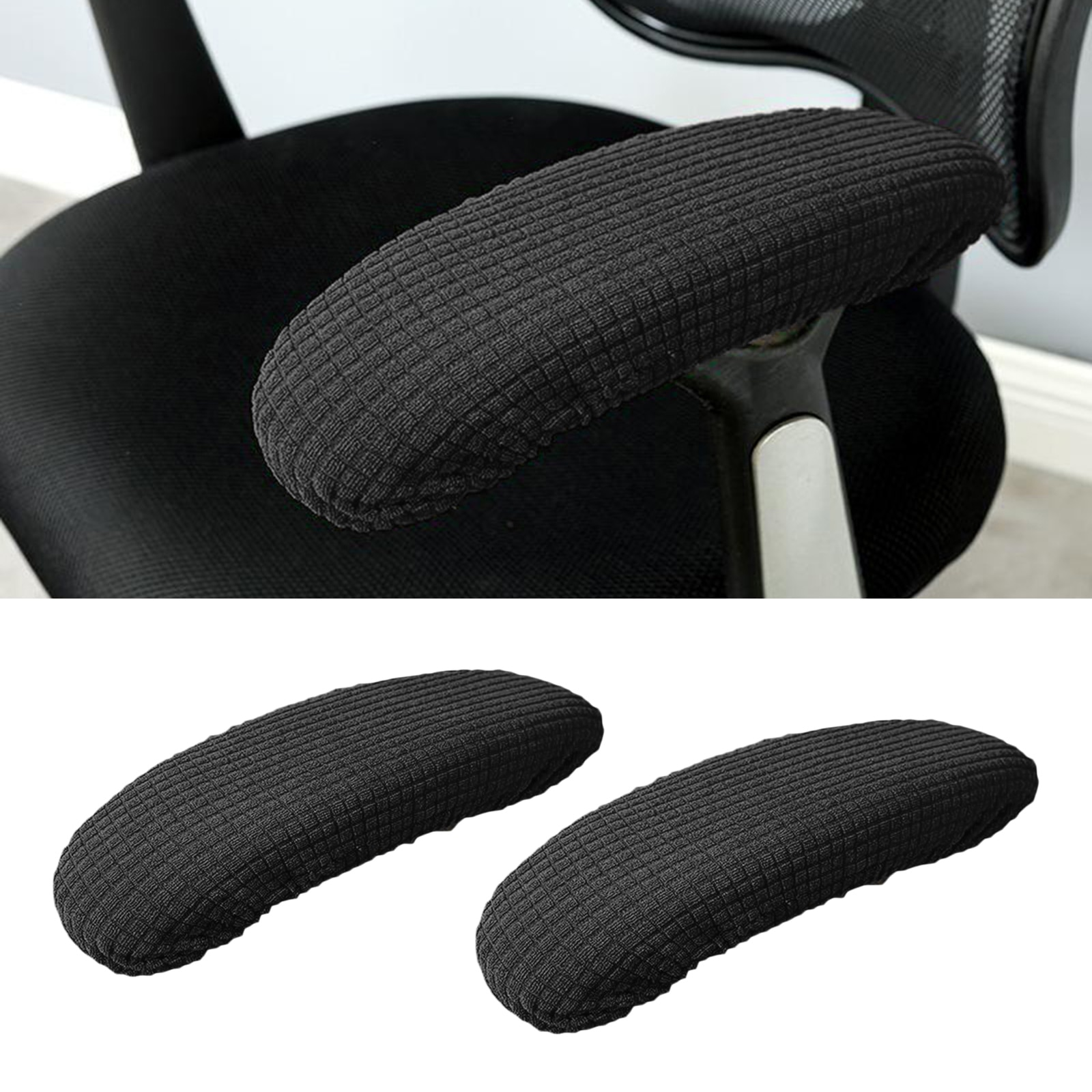 1 Pair Stretch Chair Armrest Covers for Office Home Desk Gaming Chair 25-33cm Long Armrest Cover