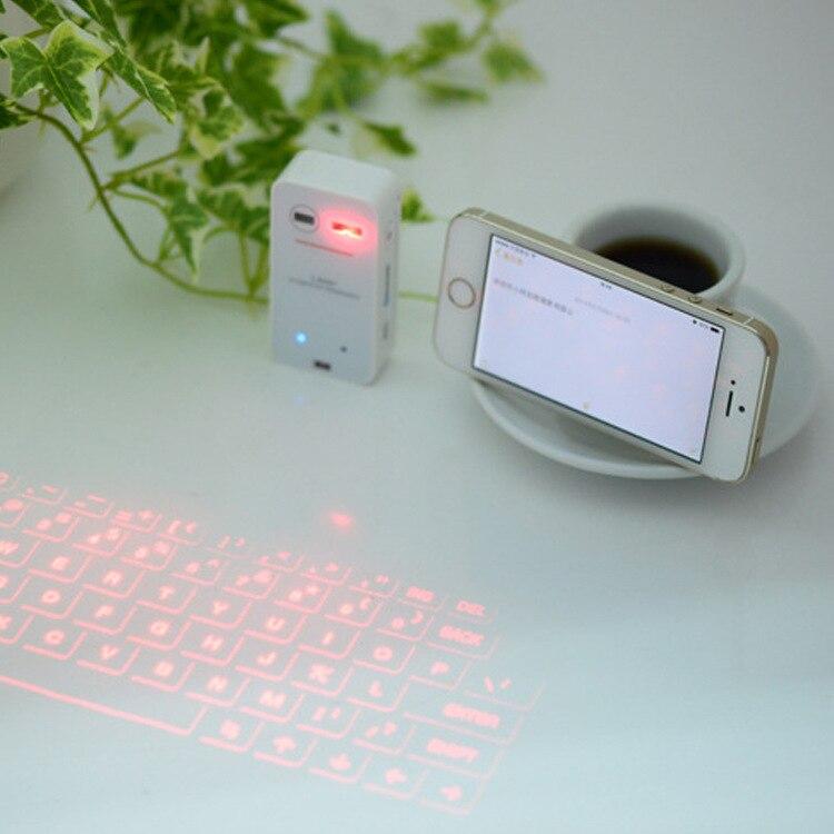 de bluetooth teclado a laser sem fio