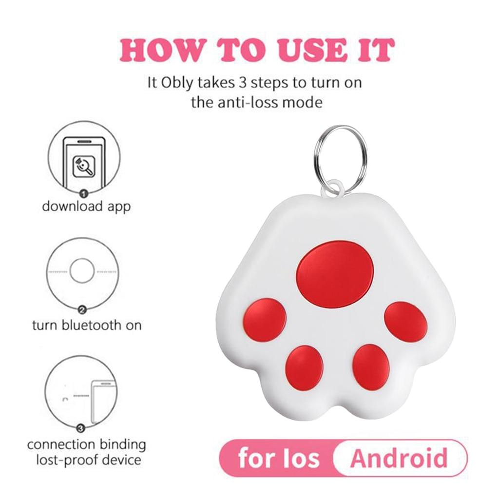 Smart Dog Cat Mini Gps Tracker Device App Anti-lost Bluetooth Gps Tracker Device Key Finder