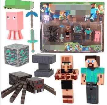 New Arrival Minecraft action figures Steve Alex Pig Zombie Cat Horse