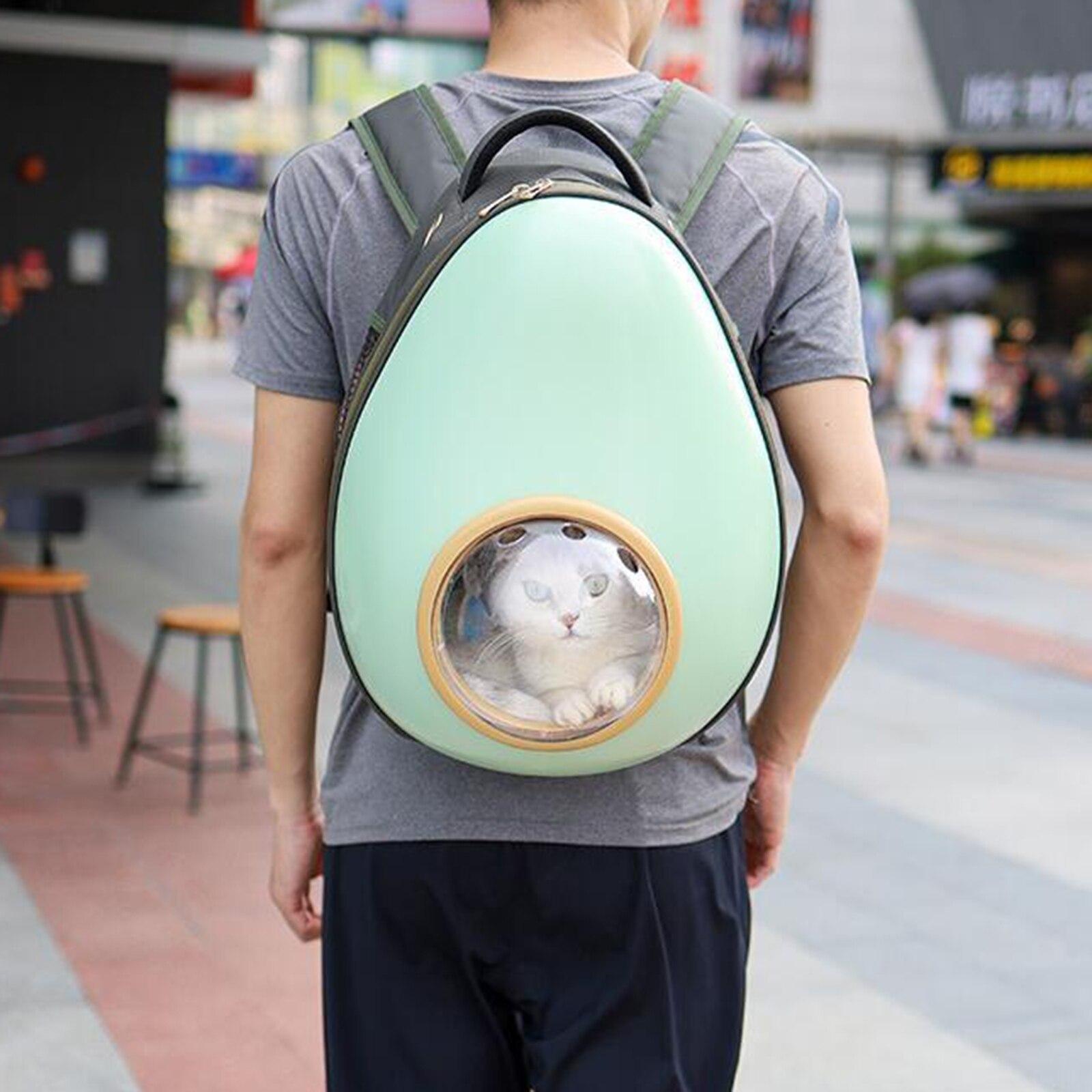 Portátil pet transportadora mochila espaço cápsula filhote