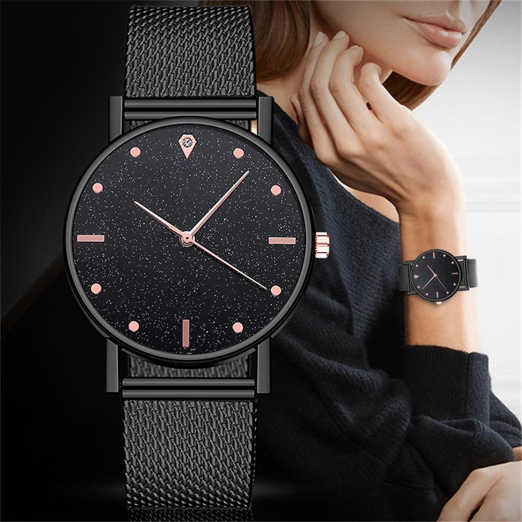 Luxury Women Beautiful Quartz Watch Vintage Stainless 2021