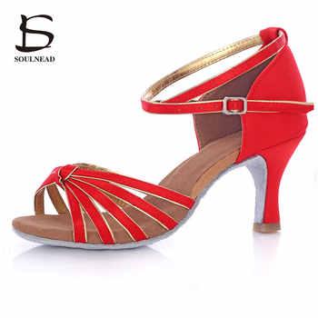 online store 36b9c 90720 Ragazze Delle Signore della Donna Salsa Scarpe Da Ballo Latino Nodo