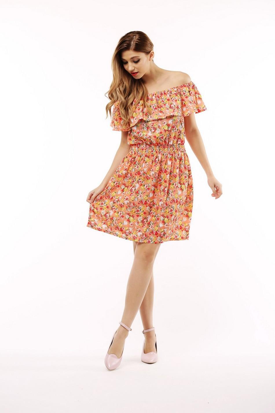 2017 fashion nowa wiosna lato plus size odzież kobiet floral print wzór sukienki na co dzień vestidos wc0472 17