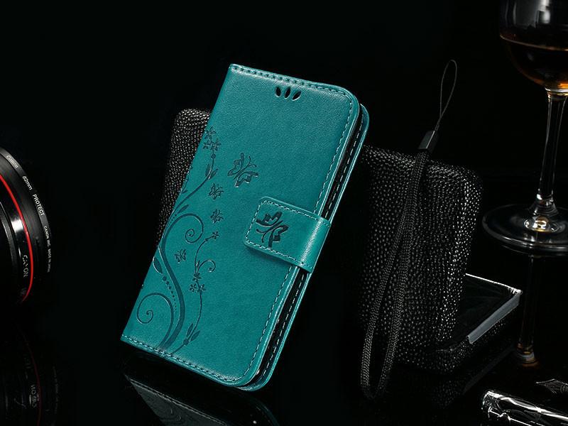 Dla microsoft nokia lumia 640 lumia 630 lumia 550 worek nadrukowane butterfly pu wizytownik skórzany telefon okładka case shell 16
