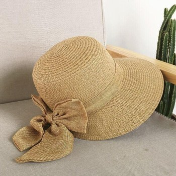 59a4ed03 2018 Women's Sun Hat Big Bow Wide Brim Floppy Summer Hats   hat ...