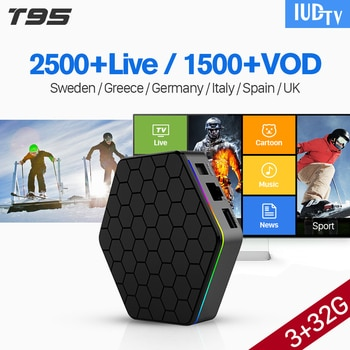 4K T95Z Plus TV Box 3G Smart Android 7 1 IUDTV Code IPTV Subscription
