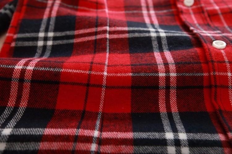 2017 hot sprzedaż jesień zima panie kobieta casual cotton lapel bluzka bluzki z długim rękawem kratę koszula kobiet szczupła odzieży wierzchniej clothing 13
