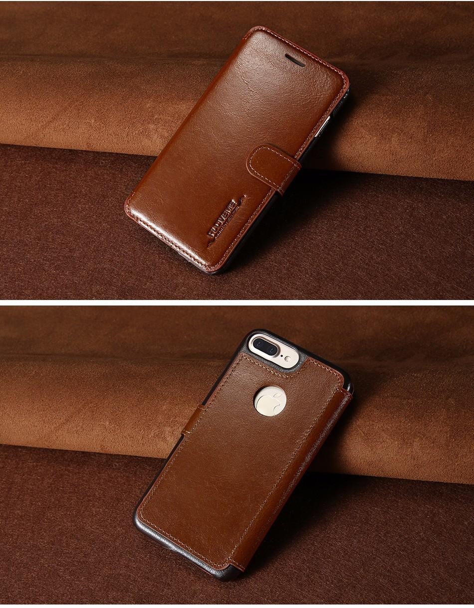 Floveme vintage klapki skóra case dla iphone 7 6 6 s pokrywa z karty uchwyt luksusowe wallet case for iphone 7 7 plus 6 6 s plus capa 6