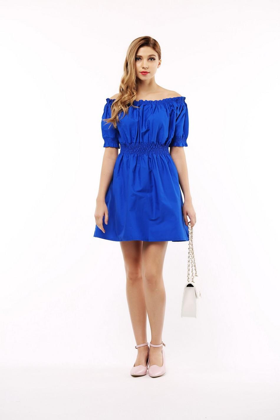 100% bawełna nowy 2017 jesień lato kobiety dress krótki rękaw casual sukienki plus size vestidos wc0380 15