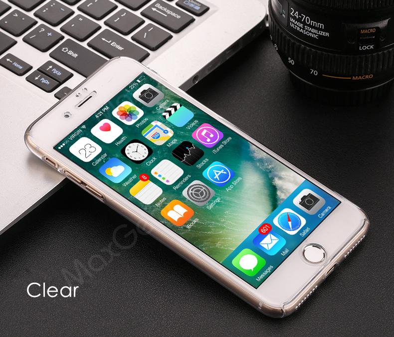 Luksusowe Piano Black 360 Stopni Ciężka PECET Skrzynki Dla Apple iPhone 5 5S SE 6 6 S 7 Plus Szczupła Całe Ciało Pokrywa Capa + Szklany Ekran Protector 25