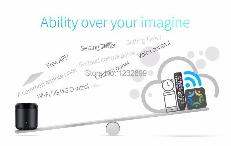 Oryginalny Mini3 Uniwersalny Inteligentny WiFi Broadlink RM/IR/4G Bezprzewodowego Pilota zdalnego sterowania Poprzez IOS Android Inteligentnego Domu automatyki 7