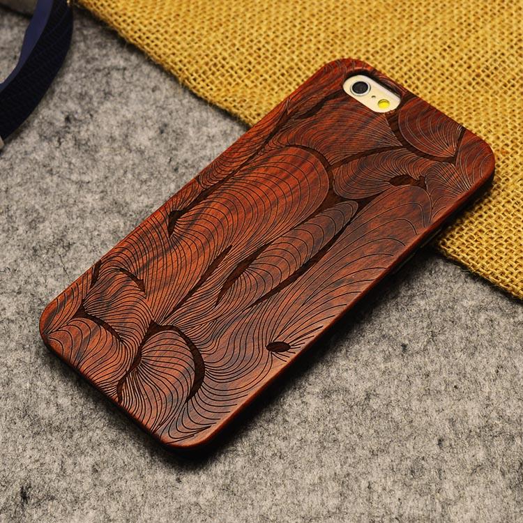 U & i marka cienki luksusowe natural wood telefon case for iphone 5 5s 6 6 s 6 plus 6 s plus 7 7 plus pokrywa drewniane wysokiej jakości, odporna na wstrząsy 19