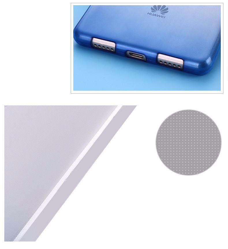Ultra-cienki przezroczysty miękka tpu case dla huawei p8 p9 plus p8 lite krzemu gradientu telefon ochronna pokrywa dla huawei p9 Shell 6