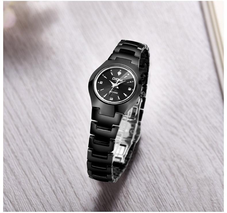 Hk dom luksusowe top marka męska zegarek wolframu stal wrist watch wodoodporna biznesu kwarcowy zegarek fashion casual sport watch 14