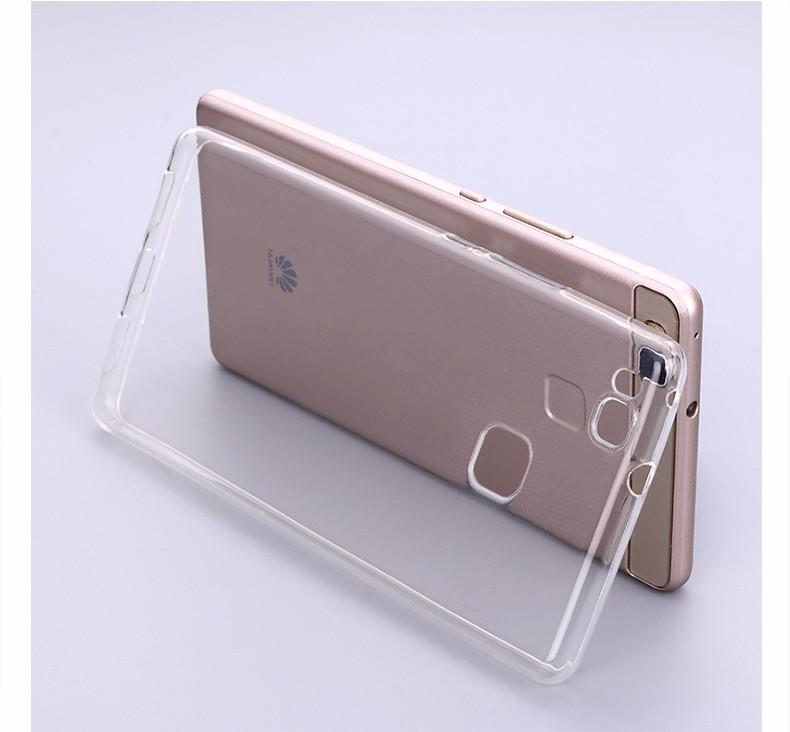 Ultra-cienki przezroczysty miękka tpu case dla huawei p8 p9 plus p8 lite krzemu gradientu telefon ochronna pokrywa dla huawei p9 Shell 9