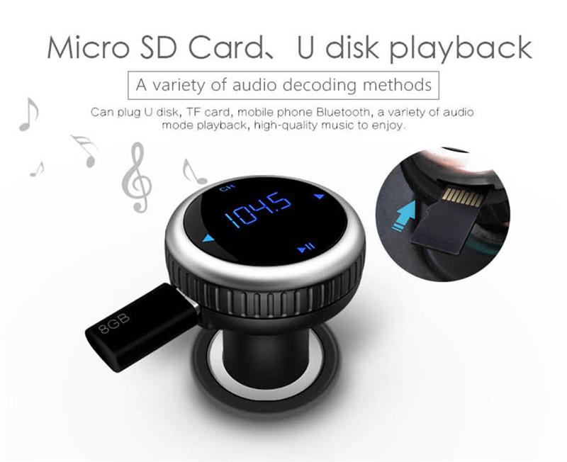 Samochodowy Odtwarzacz MP3 Audio Bluetooth Nadajnik FM Z Pilotem Zestaw Samochodowy Zestaw Głośnomówiący FM Modulator bezprzewodowy Ekran LCD w/TF gniazdo 7