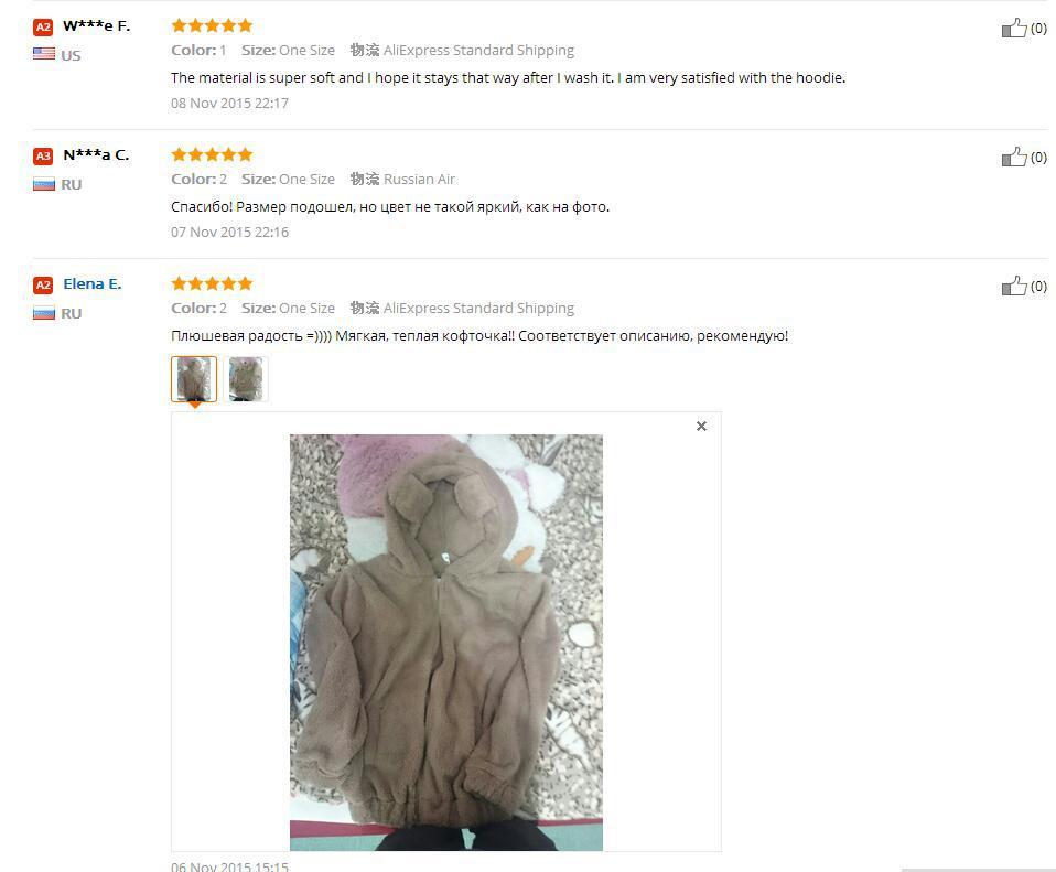 Hot Sprzedaż Kobiety Swetry Zipper Dziewczyna Zima Luźne Puszyste Niedźwiedź Ucha Bluza Z Kapturem Kurtka Warm Odzież Wierzchnia Płaszcz słodkie bluza H1301 15