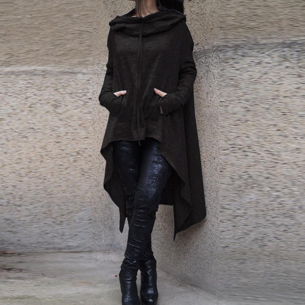 Preself Oversize Sweter Z Kapturem Bluza Kobiety Hoody Blaty Kobiet Luźna Z Długim Rękawem Płaszcz Z Kapturem Na Co Dzień Znosić Pokrywa Swetry Ubrania 4