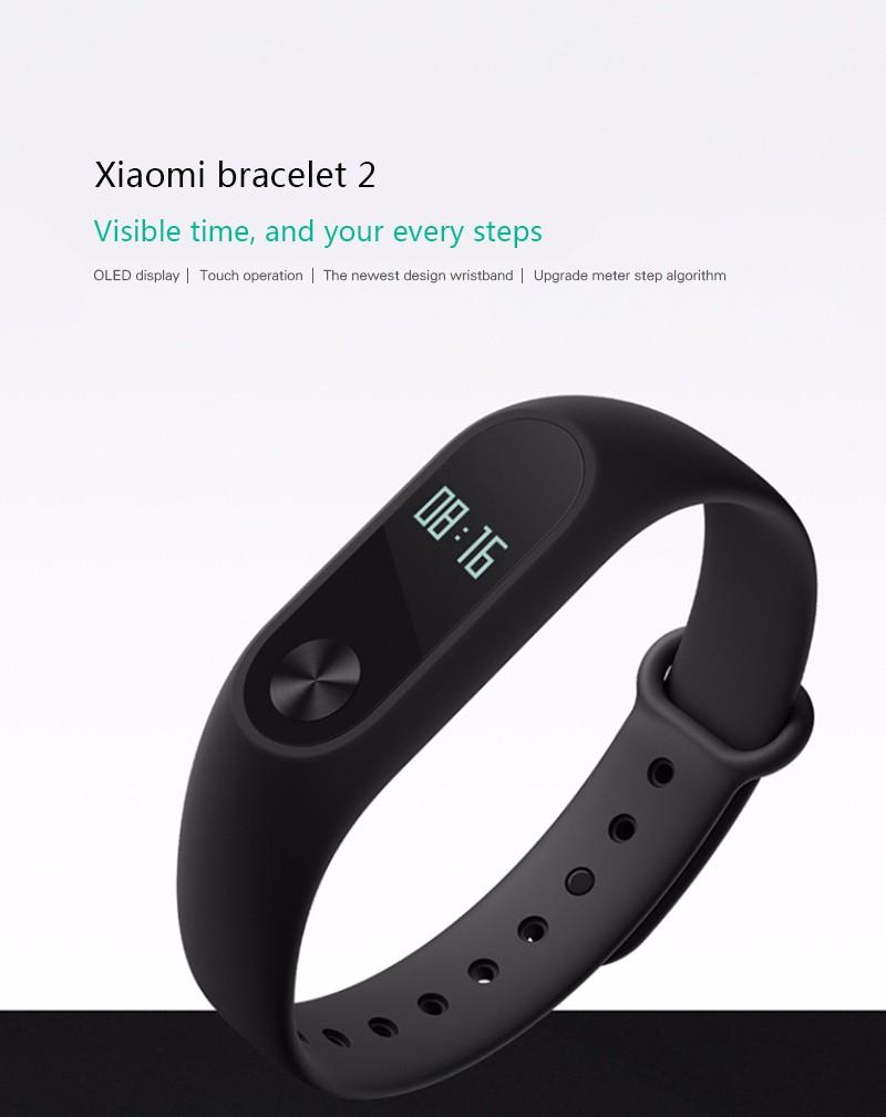 Oryginalny xiaomi mi kompania 2 miband bransoletka wistband inteligentnego tętno fitness ekran oled wyświetlacz dla iphone 7 touchpad bluetooth 28