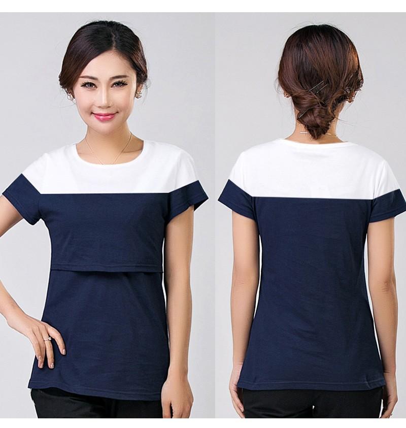 2016 lato macierzyństwo pielęgniarstwa ubrania kobiet w ciąży karmienie piersią karmienie piersią nakrywa trójniki t-shirt maxi premama nosić clothing 8