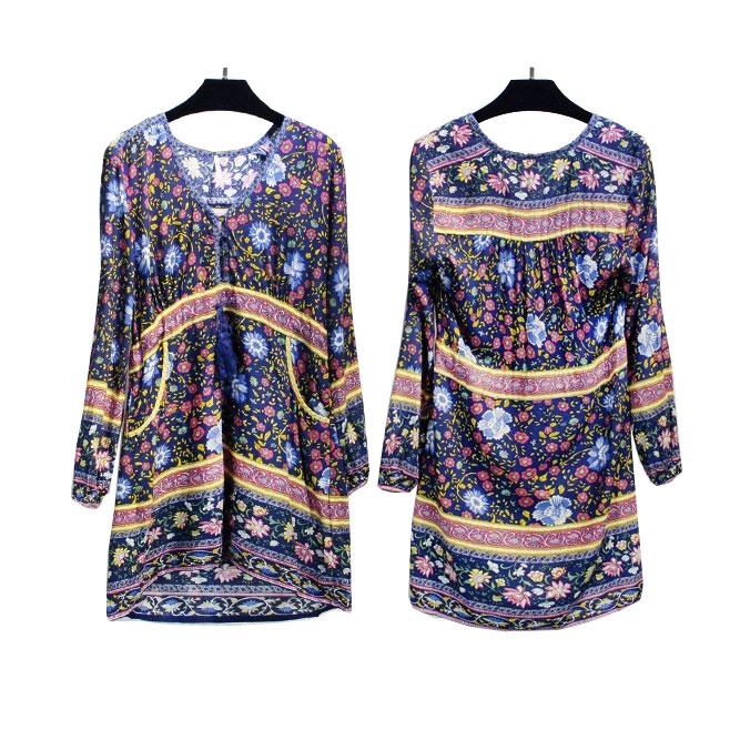 Boho zainspirowany 2017 letnie sukienki kwiatowy print cotton backless długi maxi dress hippie chic ruffles rękawem kobiety sexy vestidos 18