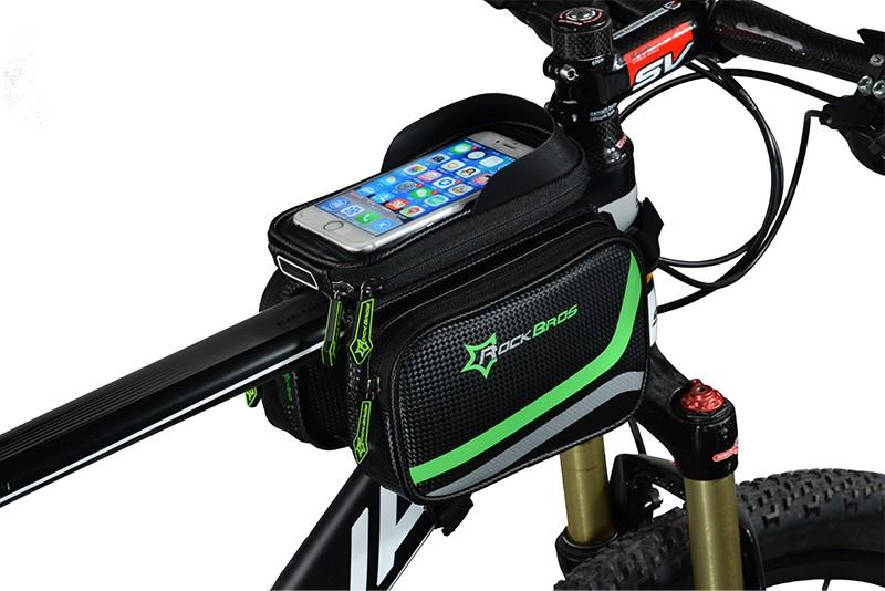 Rockbros mtb rama roweru przodu torba głowy górna rura podwójna IPouch Dotykowy Kolarstwo Pannier Dla 5.8/6 cal Smartfon Dotykowy ekran 20