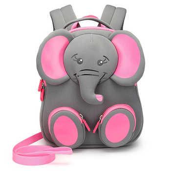 2019 New Fashion Children School Bags for Girls Boy 3D Elephant