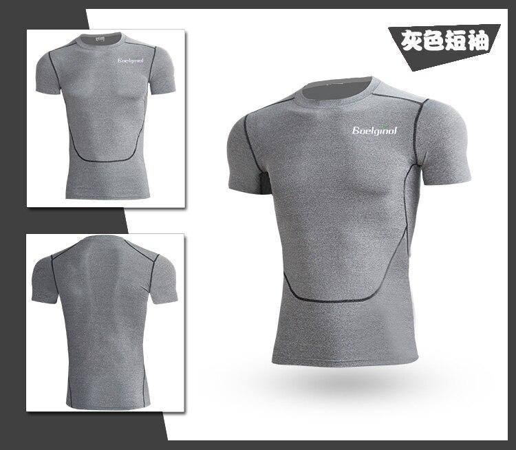 3 Sztuk Ubrania Męskie Kombinezony Sportowe Do Biegania Dla Mężczyzn Krótki kompresja Rajstopy Gym Fitness T Shirt Przycięte Spodnie Szybkie Pranie zestawy 5