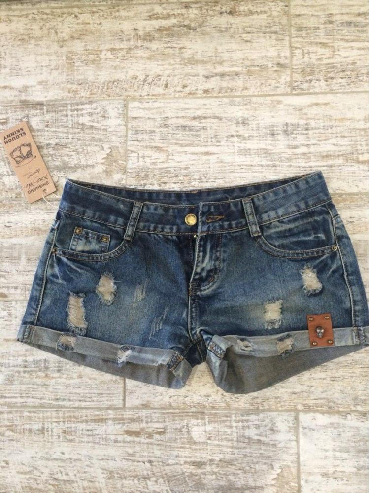 Vintage Club Denim Ripped Shorts 2
