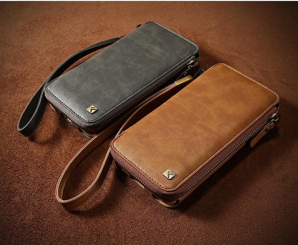Floveme vintage wallet case dla iphone 6 6 s 7 plus skórzanej oprawie zipper torebka posiadacza karty retro przypadki telefonów dla iphone 6 6 s 7 3