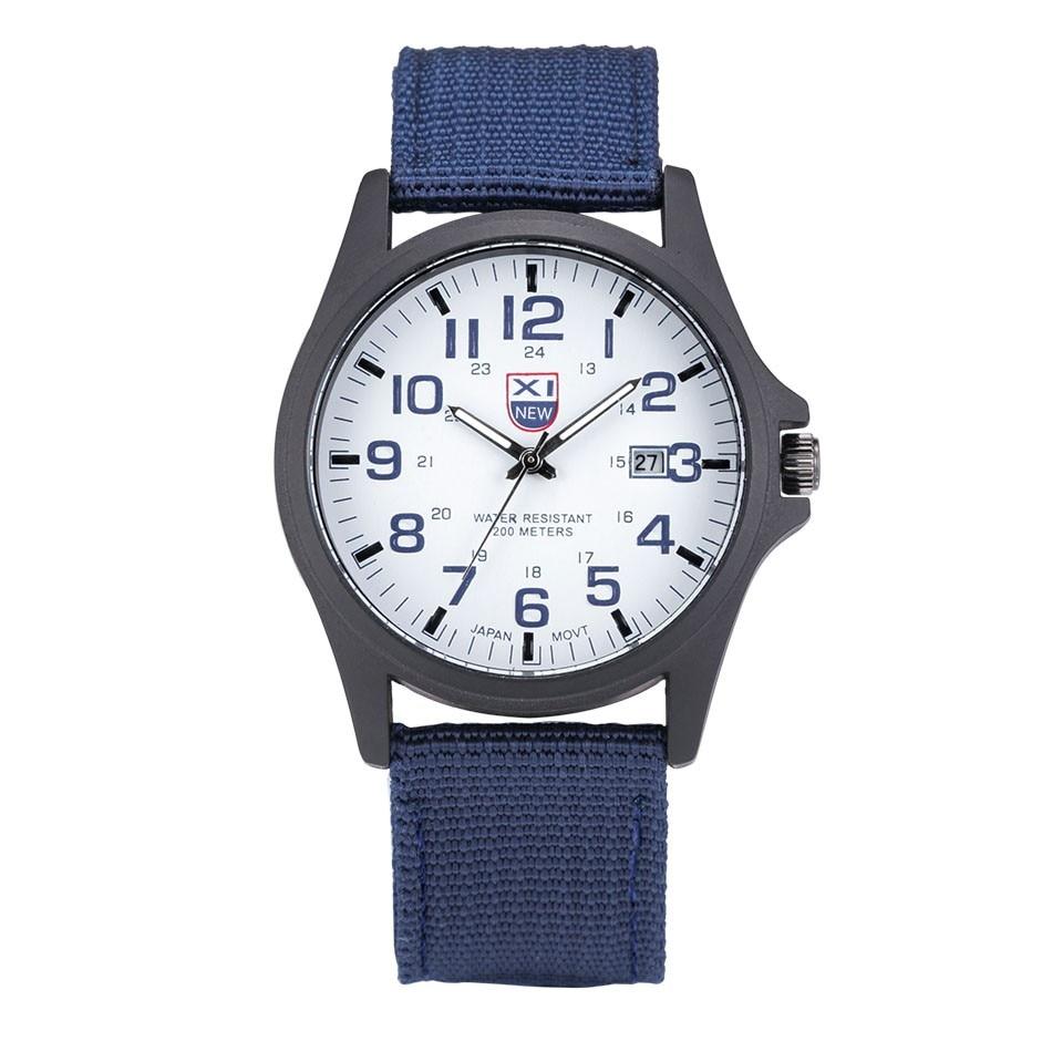 Fantastyczny xinew luksusowe boisko sportowe mężczyzna zegarka kalendarz data mens steel analogowe kwarcowy zegarek wojskowy erkek relogioi kol saat 23