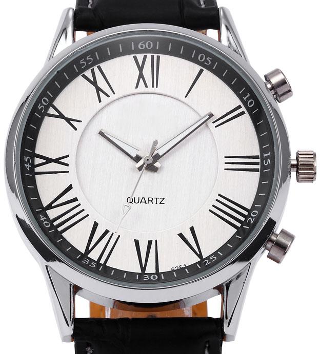 Ludzie Biznesu Kwarcowy Zegarek 2017 mężczyzna Elegancki Pu Leather Military Zegarki Sportowe Męskie Casual Analogowe Wrist Watch Relogio Masculino 3