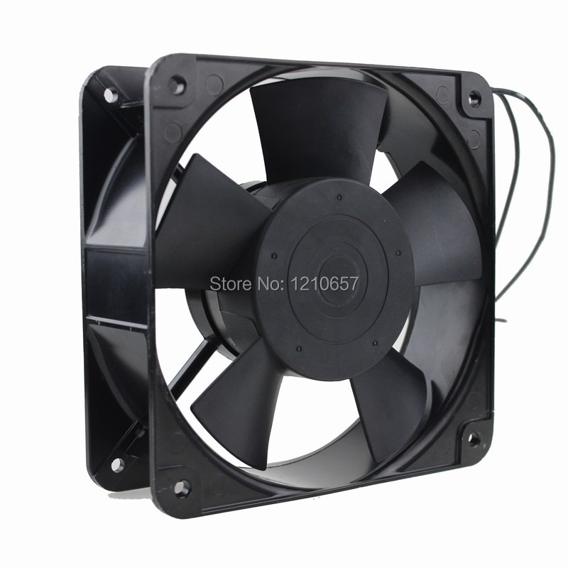 2PCS Lot Gdstime Ball 220V 240V 2Pin AC Axial Cooling Fan 180mm x 60mm High Airflow