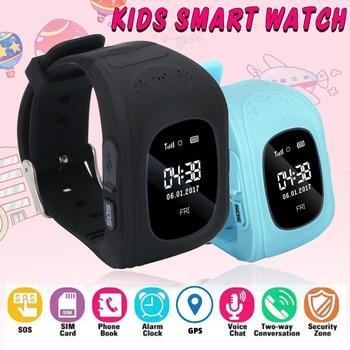 Spanish Q50 Anti Lost OLED Child GPS Tracker SOS GPS Smart Watch