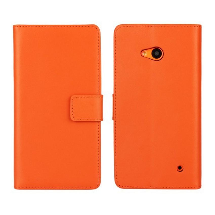 Luksusowe odwróć portfel genuine leather case pokrywa dla microsoft lumia 640 lte dual sim cell phone case do nokia 640 n640 powrót pokrywa 6