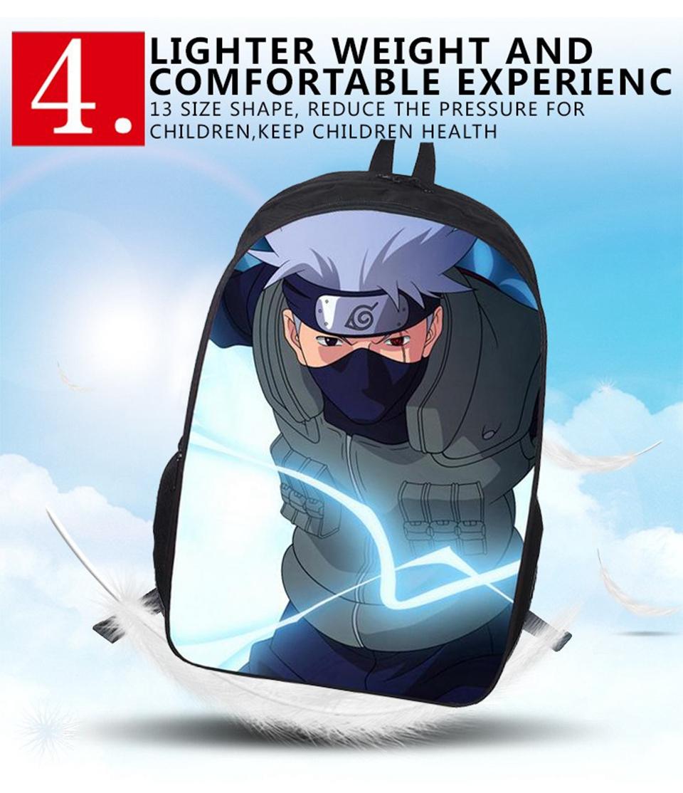 Kvaliteetne 3D Naruto piltidega seljakott