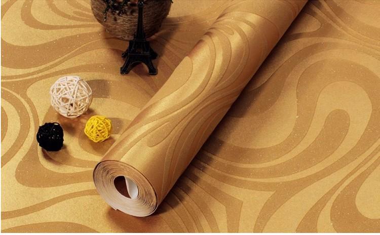 Wysokiej jakości 0.7 m * 8.4 m nowoczesny luksus 3d tapety rolki mural papel de parede uciekają na paski ściany papier 5 kolor r136 22