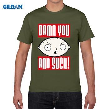 55d5c37cecf5d GILDAN Stewie Damn You Men's T-Shirt Men'S Funny Harajuku