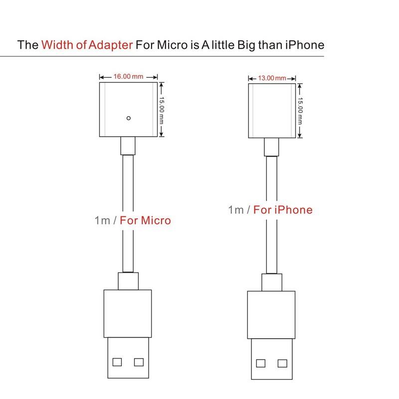 2.4a magnetyczny kabel micro usb cable dla iphone 6 6s 7 plus 5S 5 android samsung telefon komórkowy ładowania danych magnet ładowarka kabel 9