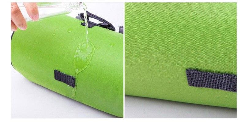 Wodoodporny Ekran Dotykowy Sakwy Rowerowe Rower Górski Rower Torby Phone Bag Case Rower Szosowy Rura Przednia Kierownica Torba Cylindra 14