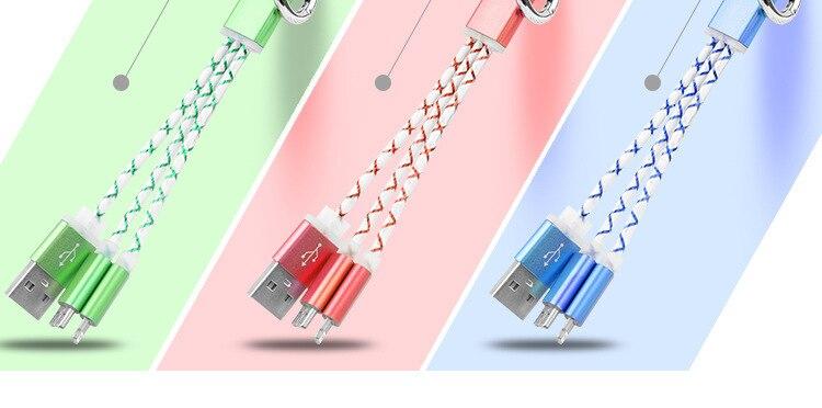 2 w 1 ładowarka kabel usb key chain dla iphone 7 6 s 6 plus samsung s6 s7 edge s5 ios i android telefon kabel usb do ładowania linia 5