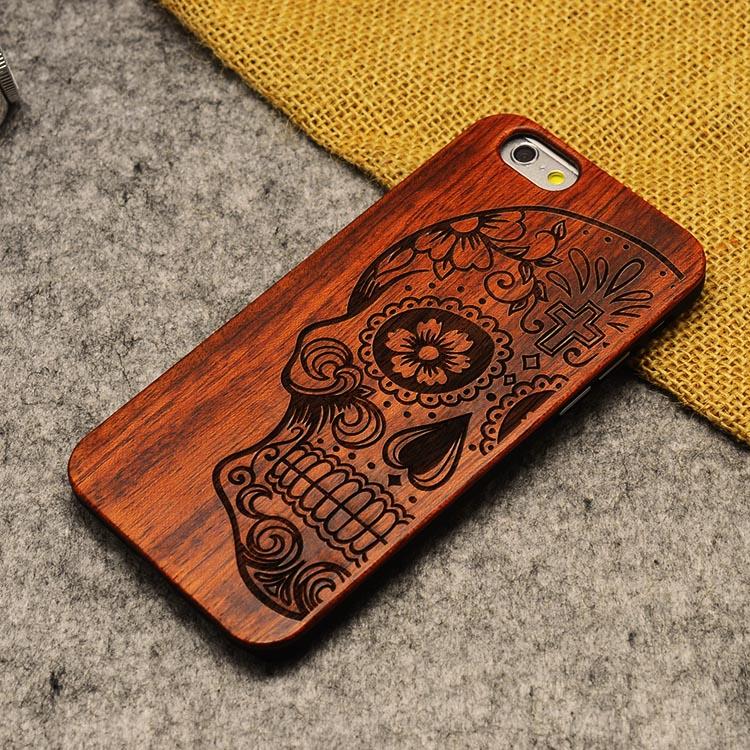 U & i marka cienki luksusowe natural wood telefon case for iphone 5 5s 6 6 s 6 plus 6 s plus 7 7 plus pokrywa drewniane wysokiej jakości, odporna na wstrząsy 18