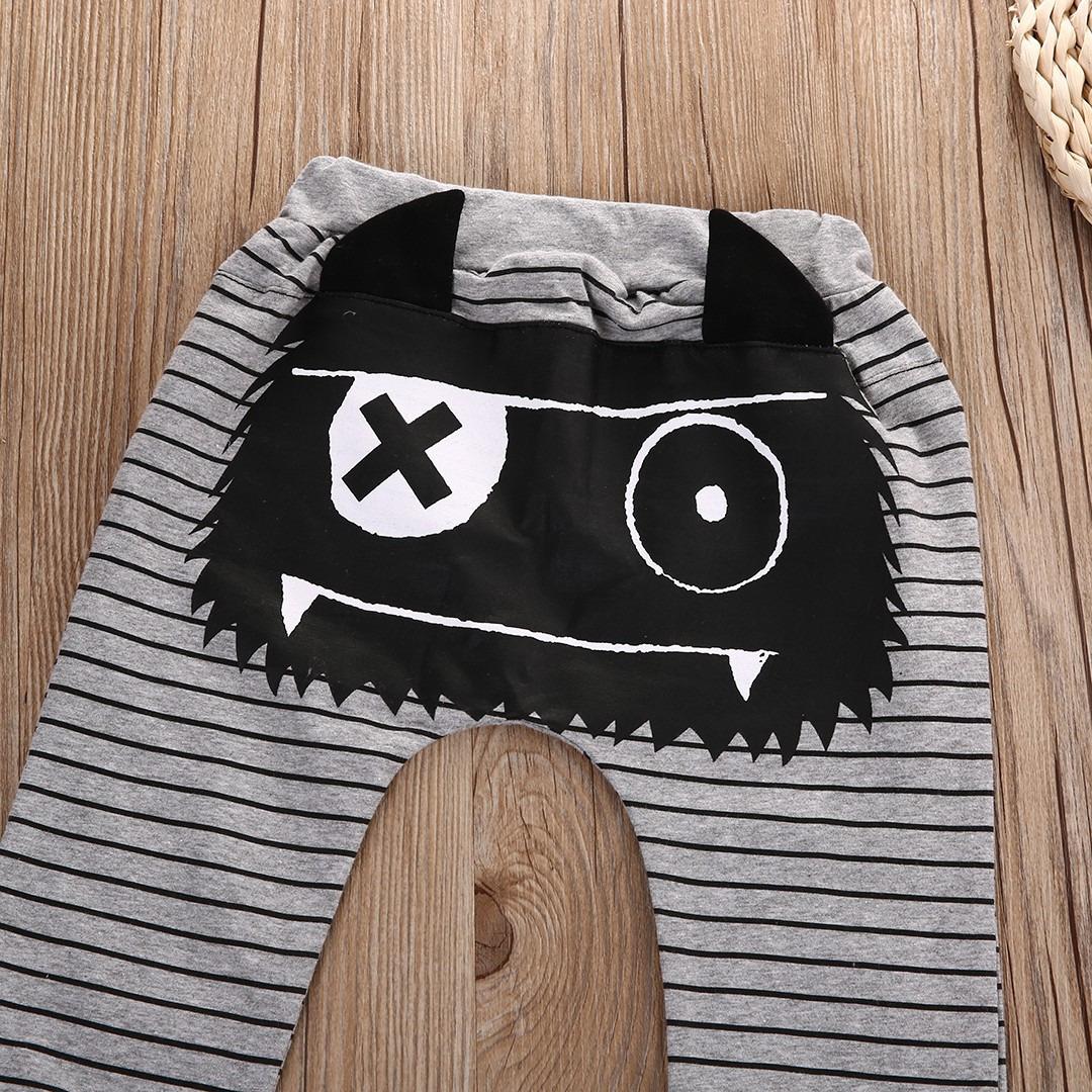0-2Y Boys Baby Dziewczyny Cute Paski Potwór Dolne Spodnie Legginsy Spodnie Harem Dzieci Spodni 5